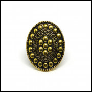 Anel Mandala Ouro Velho - Bijuteria- MOD - 014